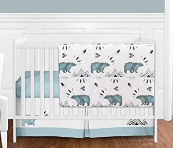 Amazon.com : Sweet Jojo Designs Bear Mountain Watercolor Baby Boy .
