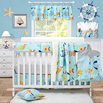 Amazon.com : Brandream Crib Bedding Sets Neutral Baby Nursery .