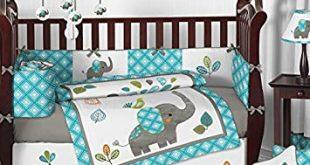 Amazon.com : Sweet Jojo Designs 9-Piece Turquoise Blue Gray and .