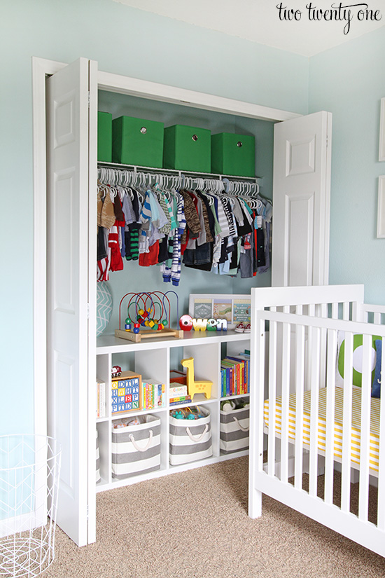 Nursery Closet - Organization Tips and Tric