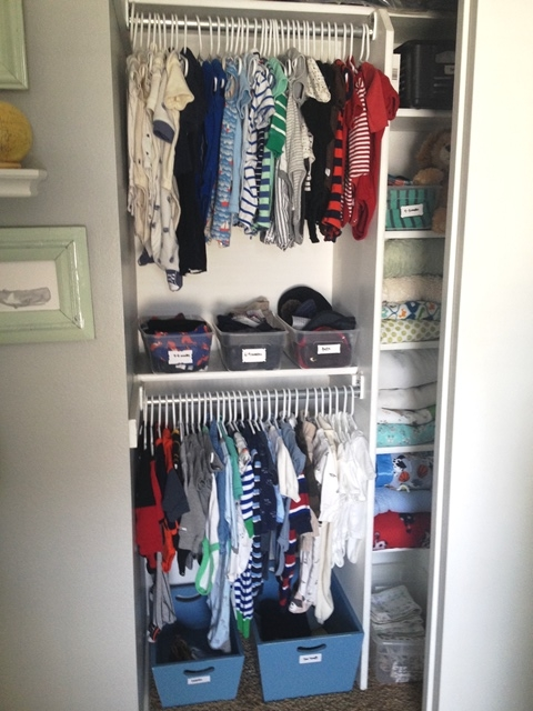 The Best Way to Organize your Baby's Closet - at home with Ashl