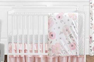 Amazon.com : 4 pc. Blush Pink, Grey and White Watercolor Floral .