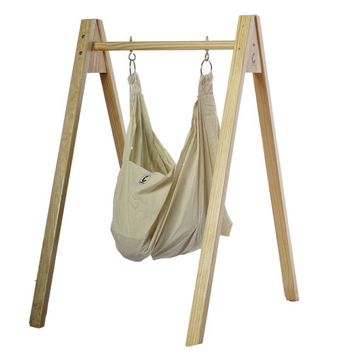 CuddlyCoo Baby Hammock/Cradle With Stand - Organic Cotton And Wood .