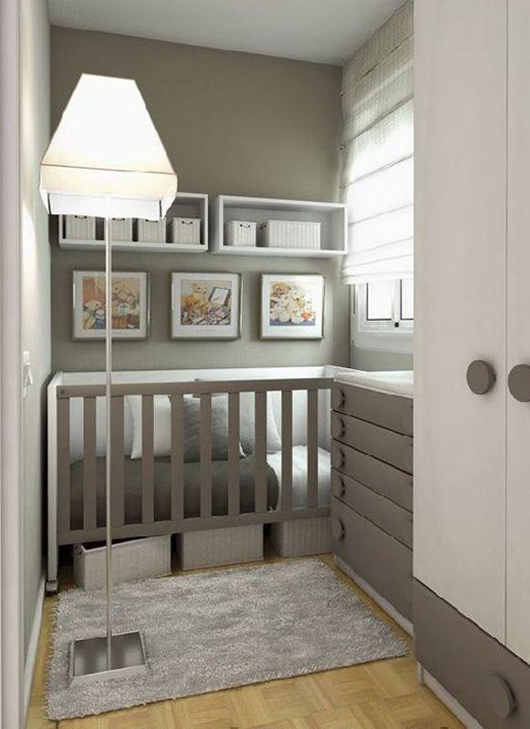 Small Nursery Ideas | Small baby room, Baby room storage, Small .
