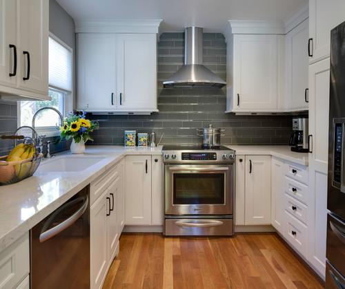 Cambria Torquay White Cabinets Backsplash Ide