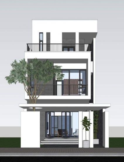 Trendy house front balcony dream homes Ideas   Nhà cửa, House .