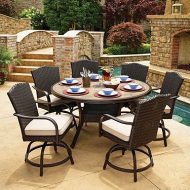 Member's Mark Agio Heritage 7-Piece Balcony-Height Patio Dining .
