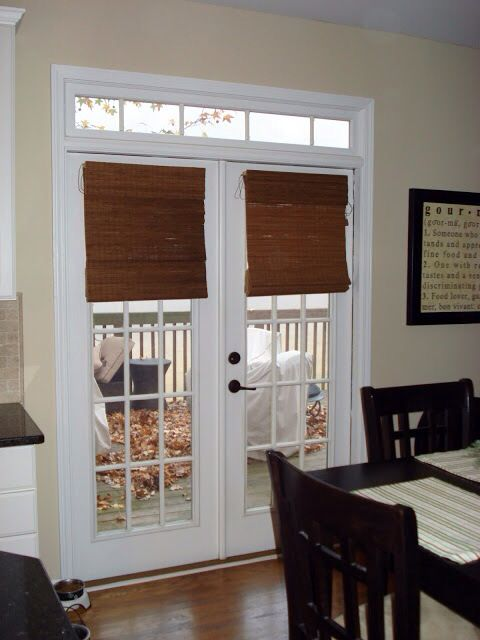Bamboo shades on French doors | Blinds for french doors, Family .