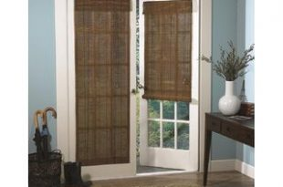 Roman Fruitwood Bamboo French Patio Door Shade | Overstock.com .