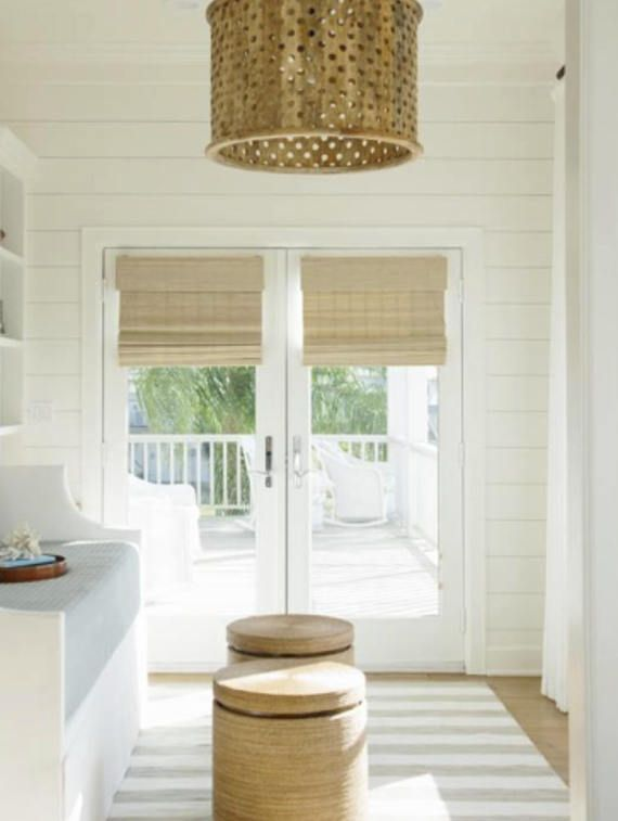 Bamboo shades modern farmhouse window shades woven wood shades .