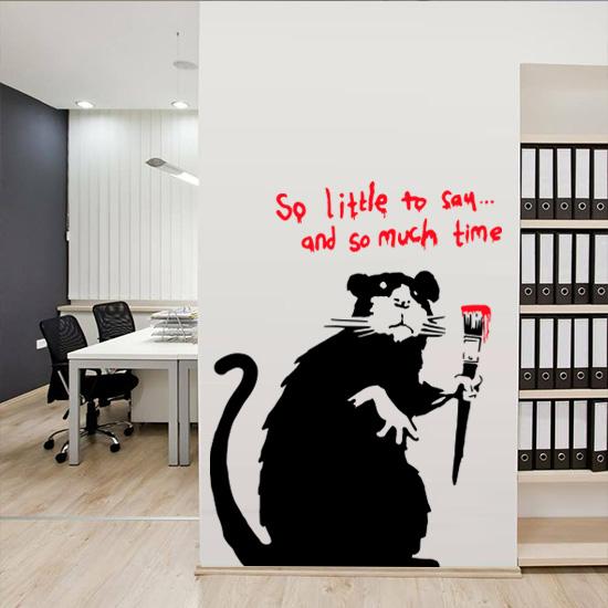 Banksy So Little To Say Rat Vinyl Wall Art Sticker - £1.99 : Blunt .