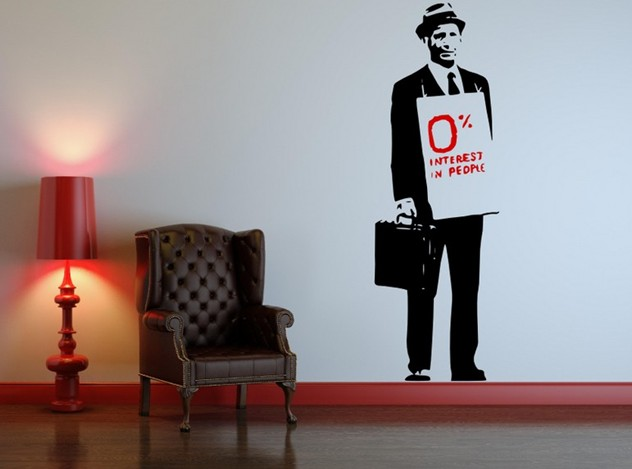 0% interest in people from Banksy on your wall? It´s possibl