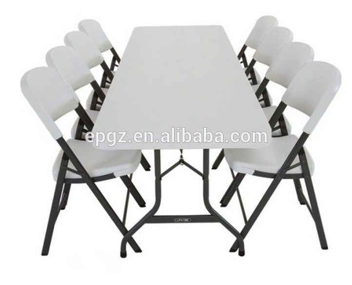White Plastic Rectangle Banquet Table And Chair/folding Banquet .