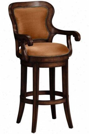 Upholstered Arm Swivel Bar Stool - Ideas on Fot