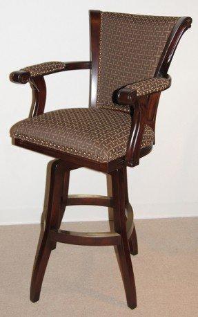 Upholstered Arm Swivel Bar Stool - Ideas on Fot