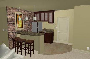 Small basement bar   Small basement bars, Basement remodeling .