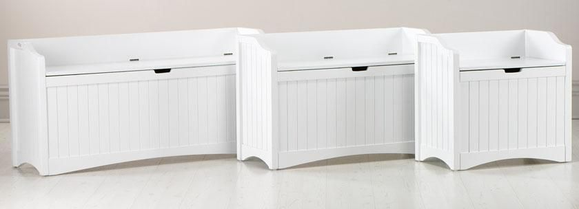 "Madison 24""W and 36''w Lift-Top Storage Bench - Benches - Entryway ."