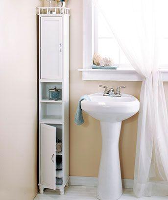 Slim Storage Towers or Baskets | Small bathroom storage, Bathroom .