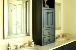 Bathroom Countertop Storage Tower Imposing Cabinet Interior Design .