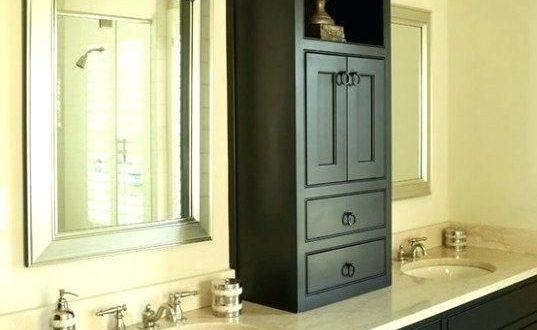 Bathroom Countertop Storage Tower Imposing Cabinet Interior Design .