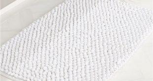 Cirrus White Bath Mat + Reviews | C