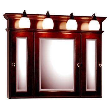 Medicine Cabinets - 36-Inch Rounded Profile Tri-View Medicine .