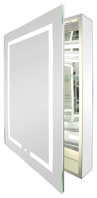 Kent LED Bathroom Cabinet, With Socket - Contemporary - Medicine .