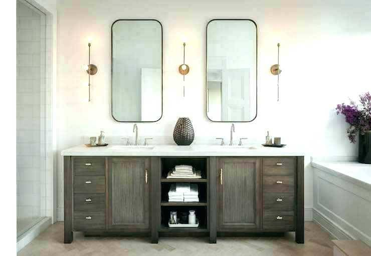 Light For Round Bathroom Mirror Double Vanity Alluring Lighting .