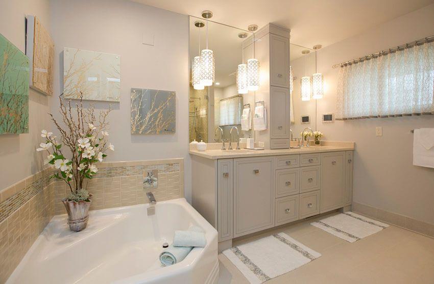 21+ Bathroom Pendant Lighting Design Ideas -   Bathroom pendant .