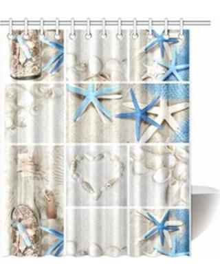 New Deal for ARTJIA Sea Theme Sandy Beach Shower Curtain, Wooden .