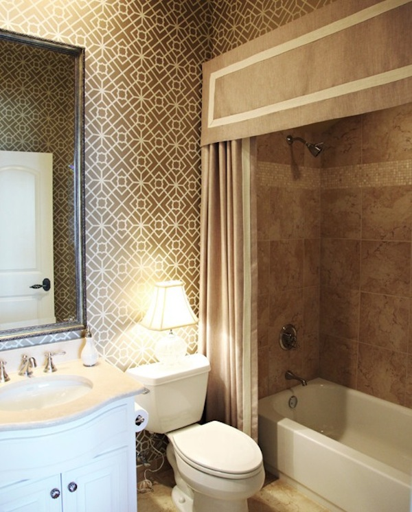 Making Your Bathroom Look Larger With Shower Curtain Ide