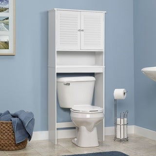 Shop Gymax Bathroom Space Saver Over The Toilet Shelved Storage .
