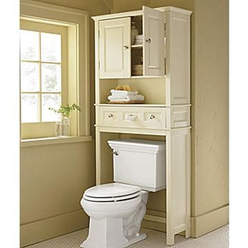 Ridgeway Space Saver | Bathroom cabinets over toilet, Over the .