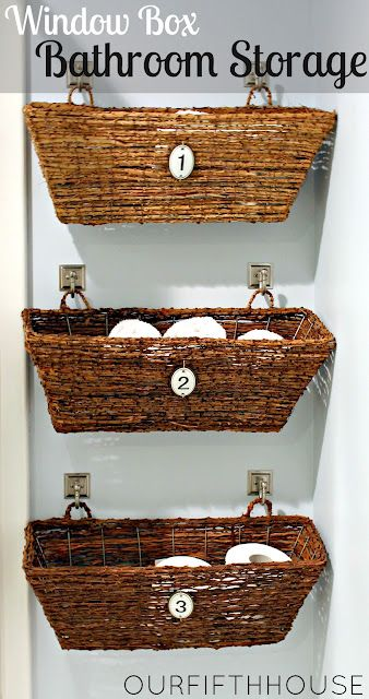 window box bathroom storage - basket storage. I was thinking about .