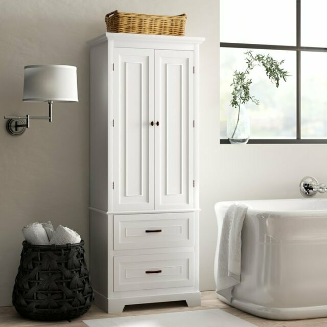 Linen Tower Bath Wall Medicine Cabinet Towel Organizer Storage .