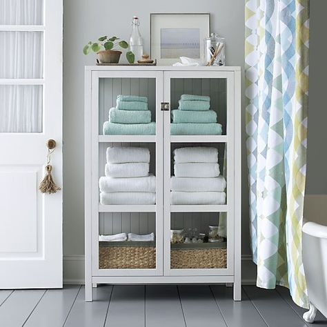 Ribbed White Bath Towel | Bathroom towel storage, Small bathroom .