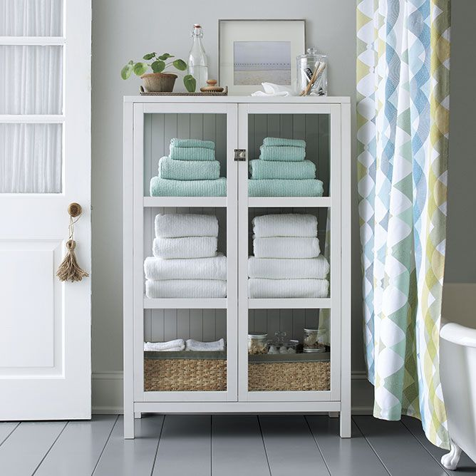 Try These Furniture Pieces in the Bathroom for More Storage .