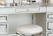 Bailey Swivel Vanity Stool (With images) | Bathroom vanity chair .