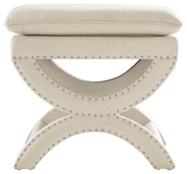 X Frame Accent Vanity Stool - Transitional - Vanity Stools And .