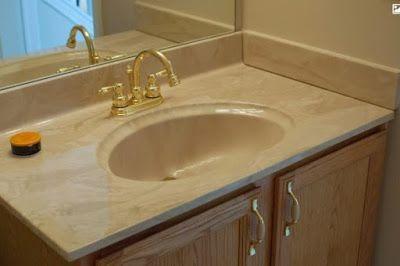 One Piece Bathroom Vanity Tops | Bathroom vanity tops, Counter top .