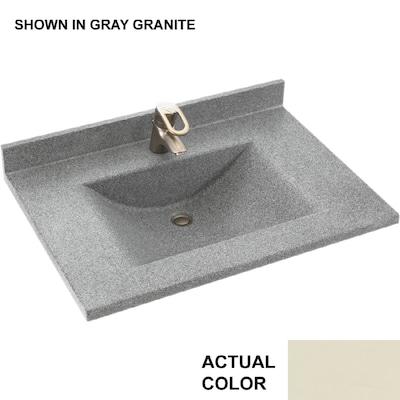 SWAN Contour 31-in Bone Solid Surface Bathroom Vanity Top at Lowes.c