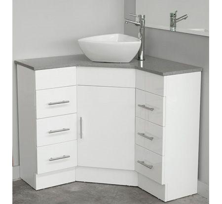 Corner Vanity with Caesarstone Top 900mm x 900mm | Corner bathroom .