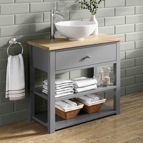 Sutton Countertop Vanity Unit Earl Grey - soak.com | Bathroom .