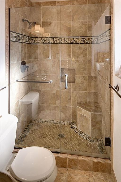 Traditional 3/4 Bathroom with Islander Sienna Mosaic 12 in. x 12 .