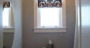 What type of bathroom window curtain designs looks good .