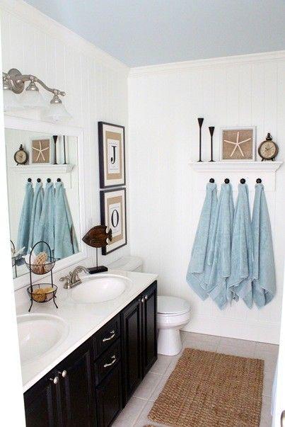 25 Awesome Beach Style Bathroom Design Ideas | Coastal bathroom .