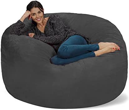 Amazon.com: Chill Sack Bean Bag Chair: Giant 5' Memory Foam .