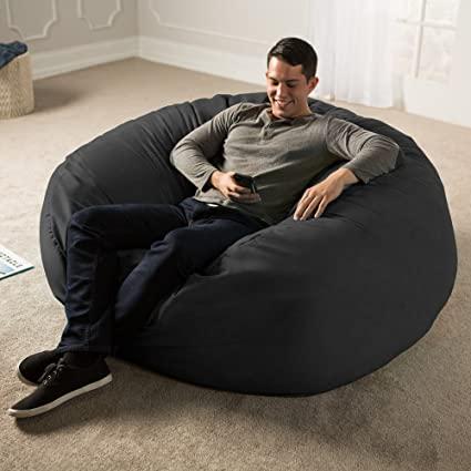 Amazon.com: Jaxx 5 Foot Saxx - Big Bean Bag Chair for Adults .