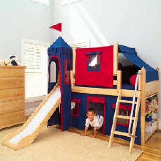 Bunk Beds With Slides for Children | Bunk bed with slide, Castle .