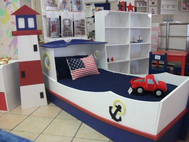 Boat Bed For Boy | Kid beds, Boys beddi